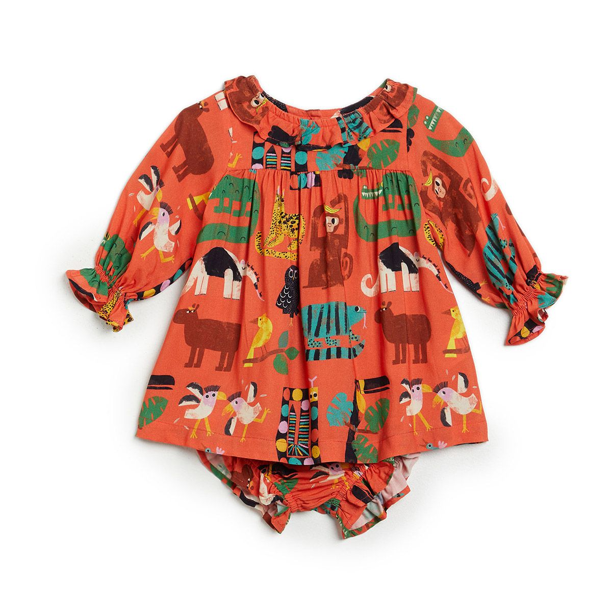 Vestido Fabula Feminino Bebê Bicho Solto