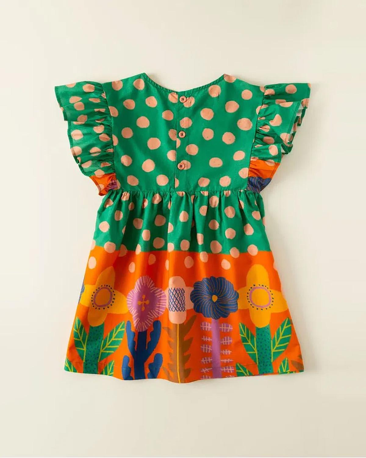 Vestido Fabula Feminino Infantil MegaFlora