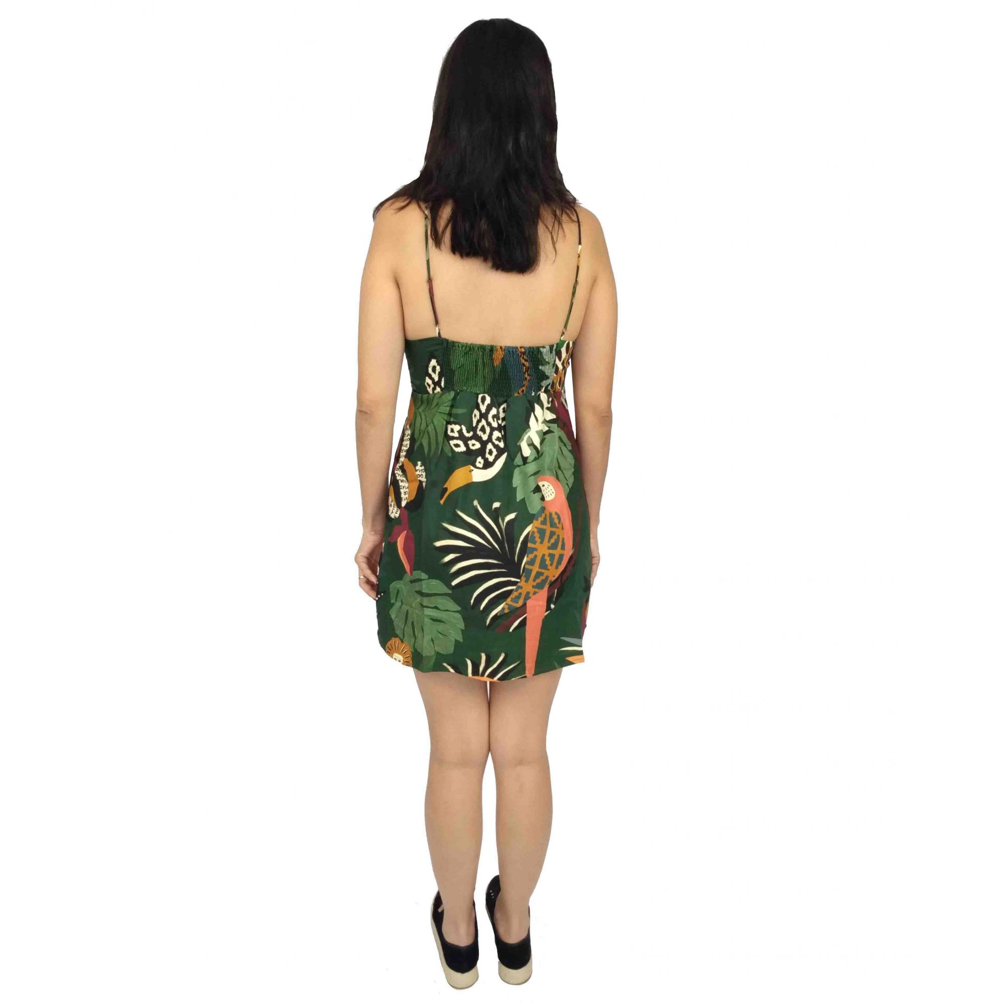 Vestido Farm Feminino Botoes Bosque Tropical