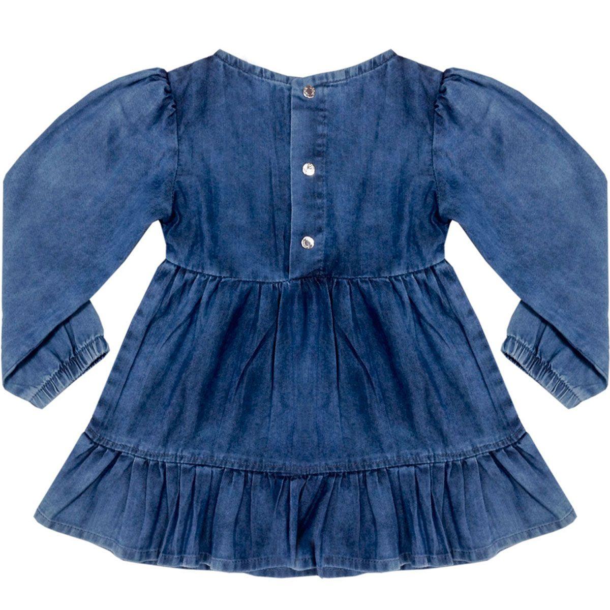 Vestido Look Jeans Feminino Azul