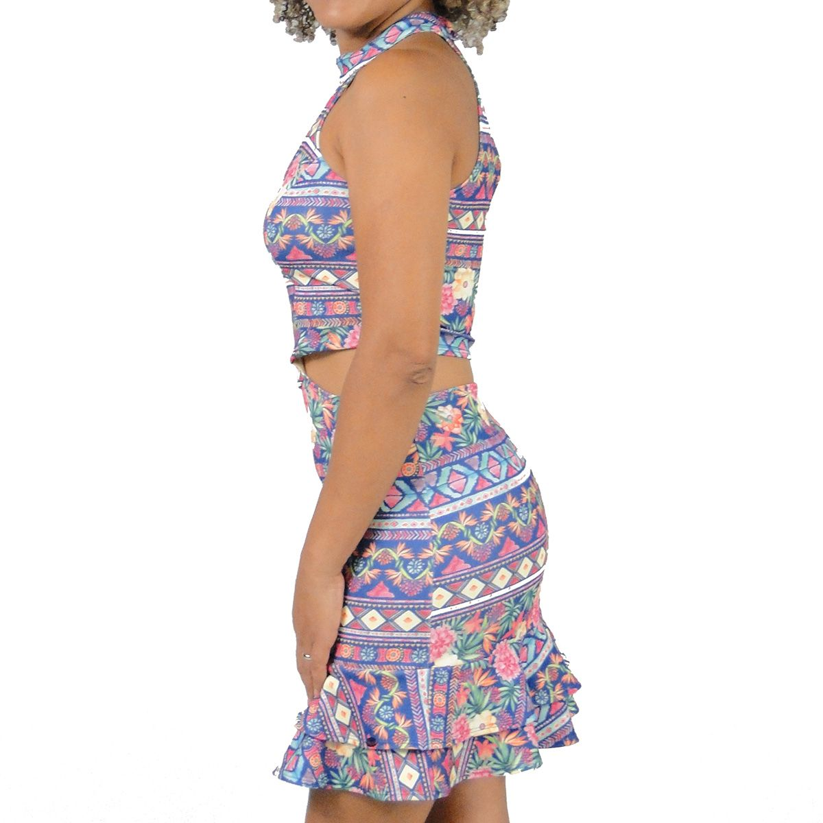 Vestido Karapalida Feminino Babados Roxo