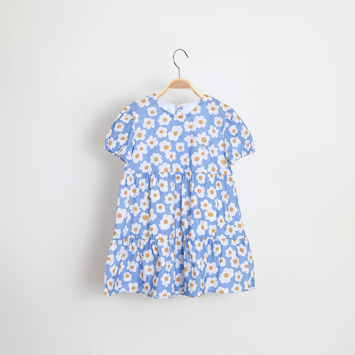 Vestido Kiko Baby Feminino Camadas Maxi Daisy Kids