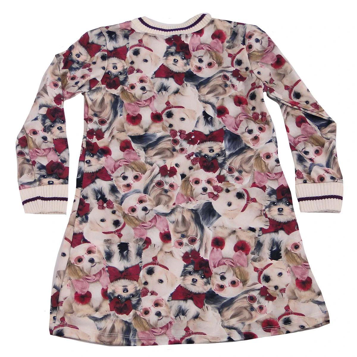 Vestido Kukie Feminino Infantil Cachorros