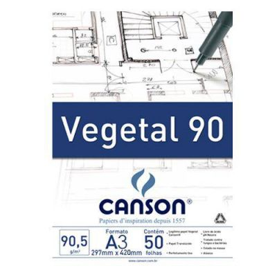 Bloco Papel Vegetal 90 A3 Canson