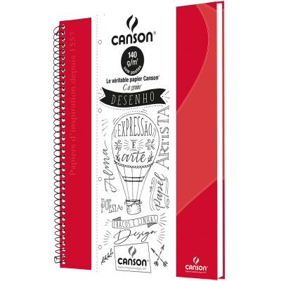 Caderno Desenho Canson Vermelho