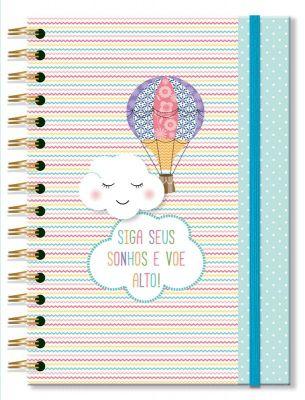 Caderno Nuvem e Balão 96 Folhas Fina Ideia
