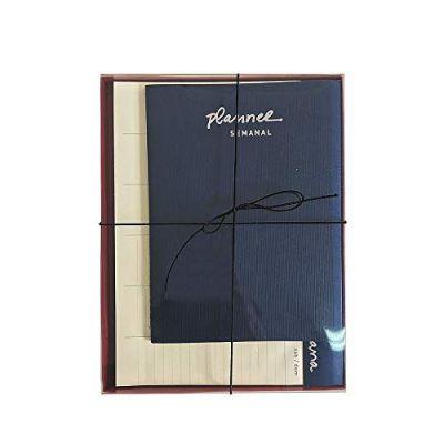 Caixa Planejamento Semanal Azul