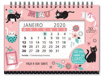 Calendário de Mesa Gatos
