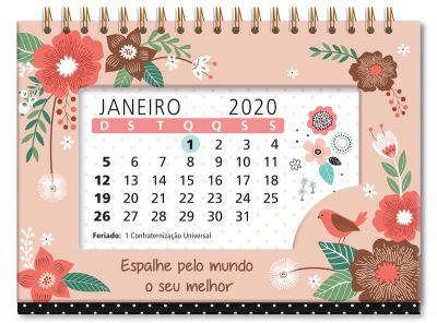 Calendário de Mesa Jardim