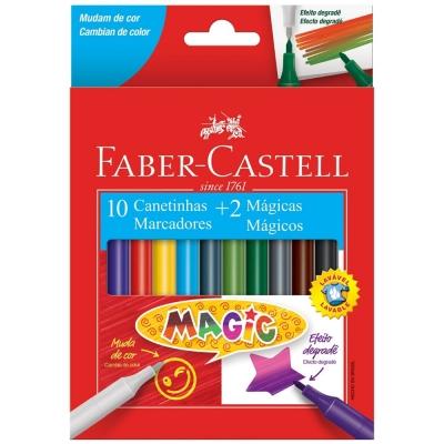 CANETA HIDROGRAFICA MAGIC COM 10 CORES FABER-CASTELL