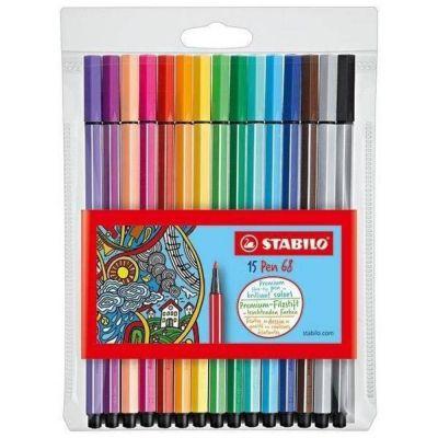Caneta Stabilo Pen 68 15 Cores