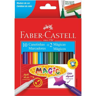 Canetinha Magic 10 Cores + 2 Mágicas <br> Faber-Castell