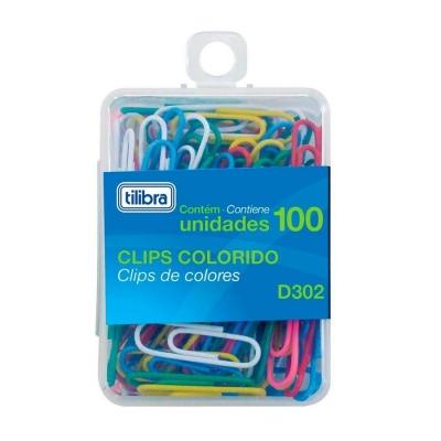 CLIPES 2/0 D302 COM 100 UNIDADES COLORIDO TILIBRA