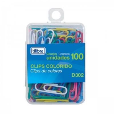 Clips Coloridos 2/0 Tilibra