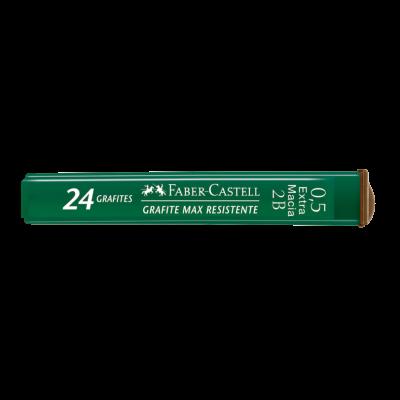 GRAFITE 0,5MM 2B  COM 24 UNIDADES FABER-CASTELL
