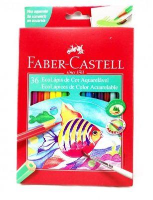 Lápis de Cor Aquarelável 36 cores Faber-Castell