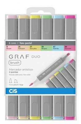 Marcador Artístico Brush Graf Duo 6 Tons Pastéis CIS