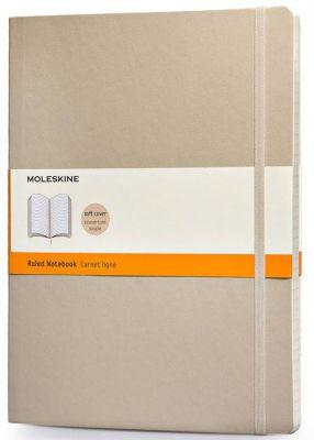 Caderneta Moleskine Rules Soft Bege 9x14