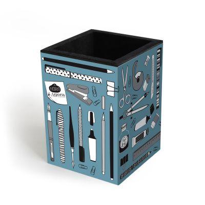 Porta-lápis Office Azul