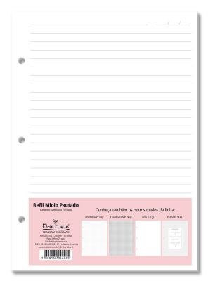 Refil Pautado Caderno Argolado