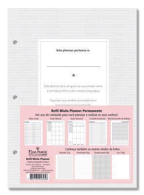 Refil Planner Permanente Caderno Argolado