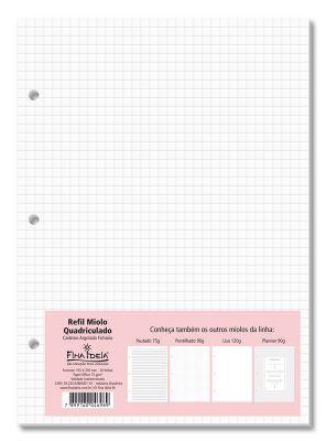 Refil Quadriculado Caderno Argolado