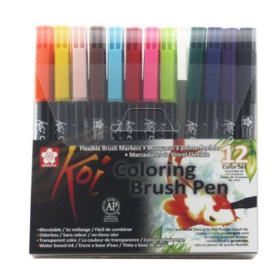 Brush Pen Koi 12 Cores