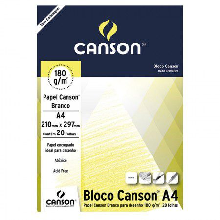 Bloco de Papel 180g/m² A4 Canson