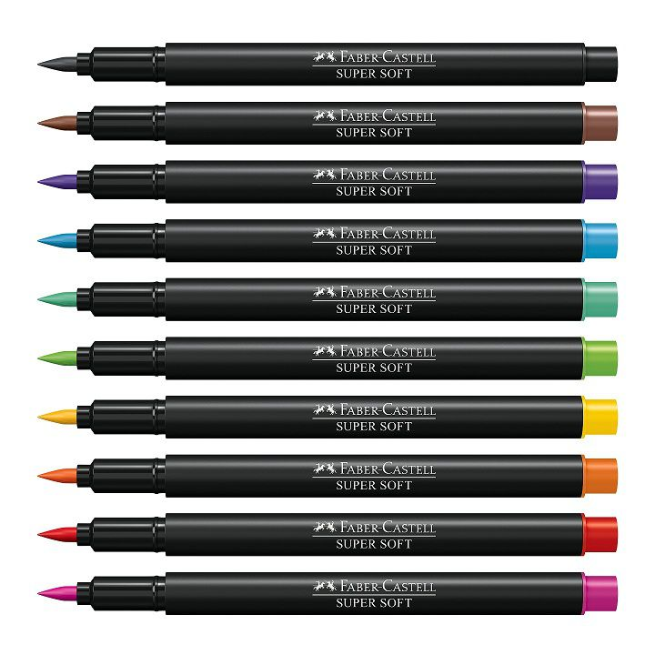 Brush Pen 10 Cores Faber-Castell