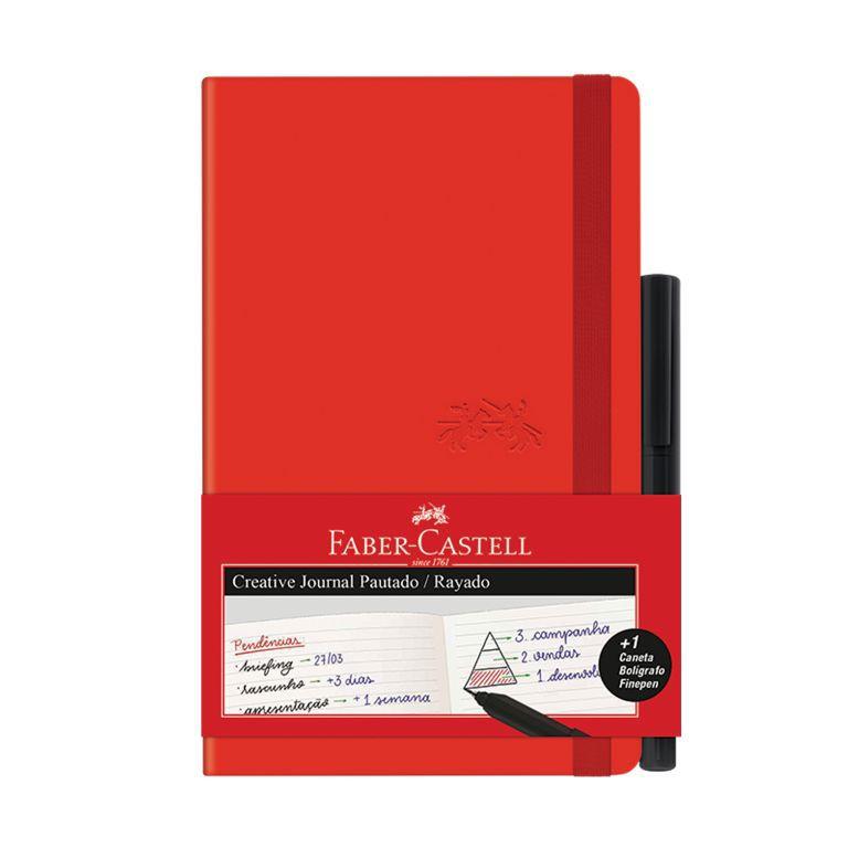 Caderneta Journal Pautada Faber-Castell