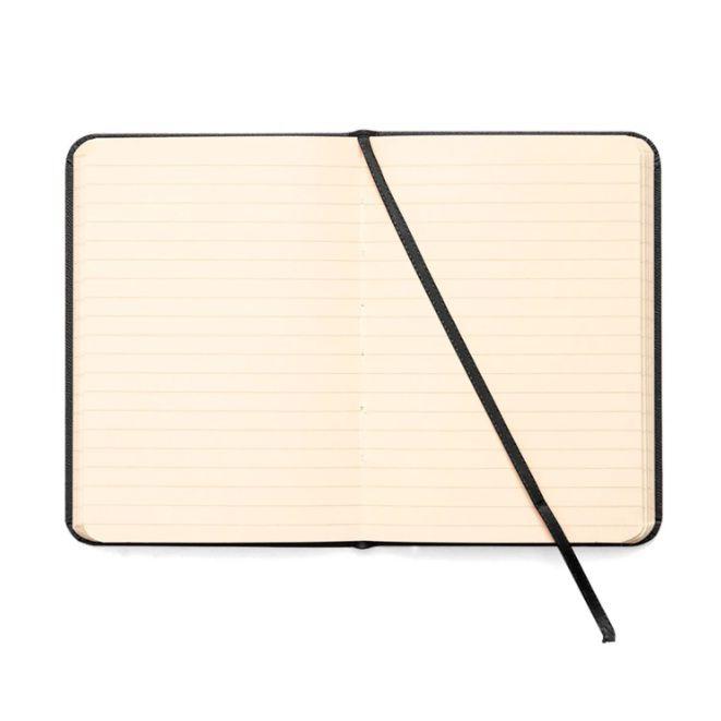 Caderneta Pautada Clássica Preta