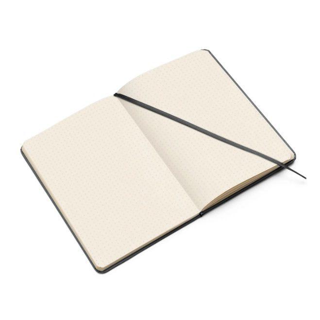 Caderneta Pontada Clássica Preta