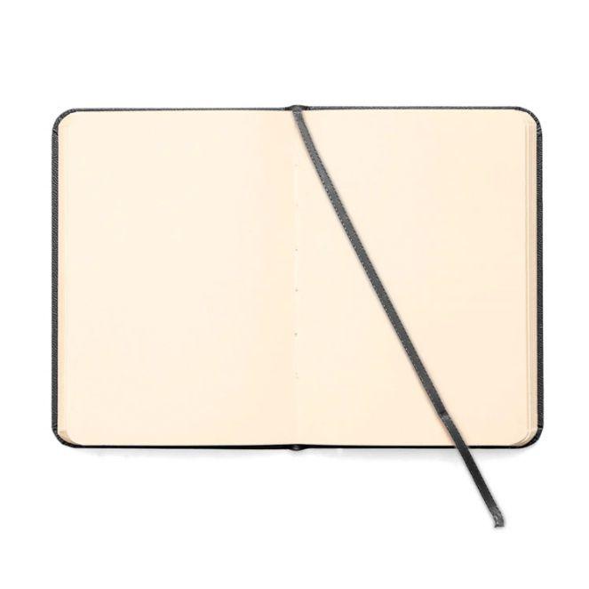 Caderneta Sem Pauta Clássica Cinza