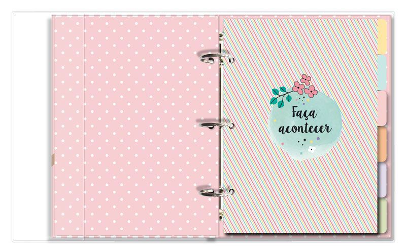 Caderno Argolado Fichario 'Bicho-preguica'