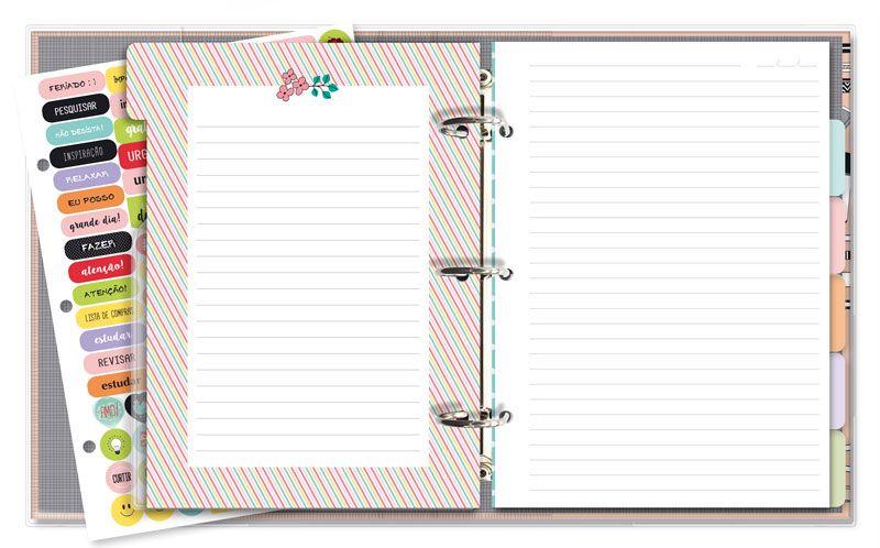 Caderno Argolado Fichário Office