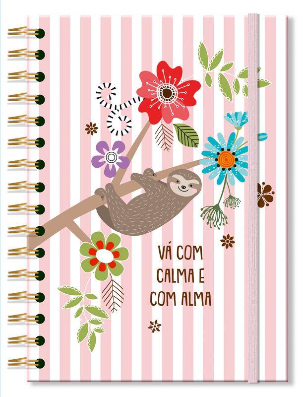 Caderno Colegial 'Bicho-preguica' 200 fls