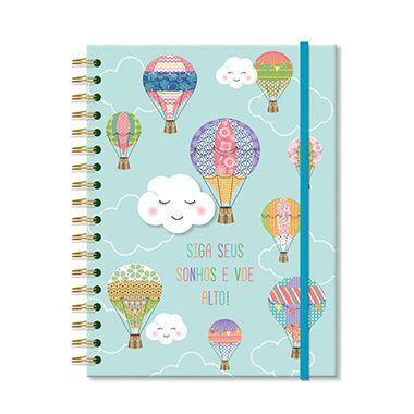 Caderno Colegial 'Nuvem e balão' 200 fls