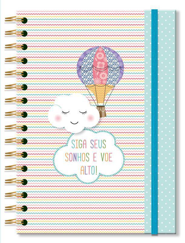 Caderno Colegial 'Nuvem e balão' 96 fls