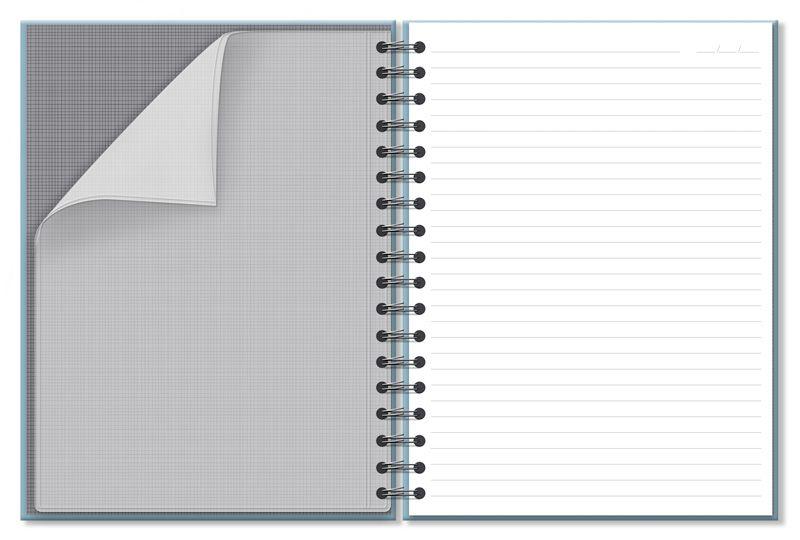 Caderno Colegial Office Azul 96 fls