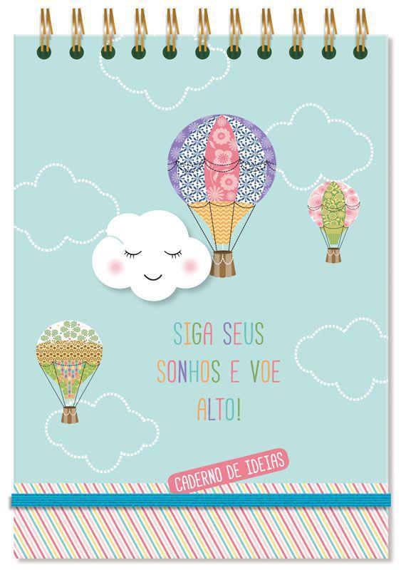 Caderno de Ideias 'Nuvem e balão'