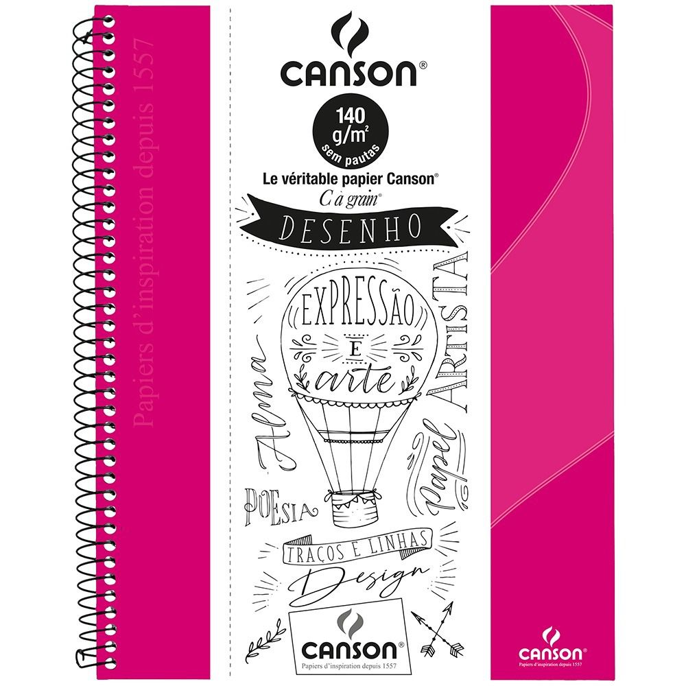 Caderno Desenho Canson Pink