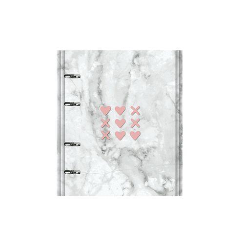 Caderno Fichário Pink Stone Ótima