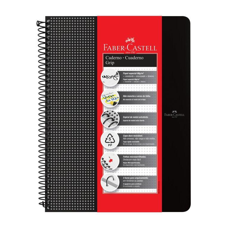 Caderno Grip Pautado Faber-Castell
