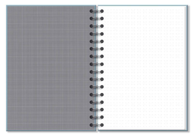 Caderno pontado Office Azul