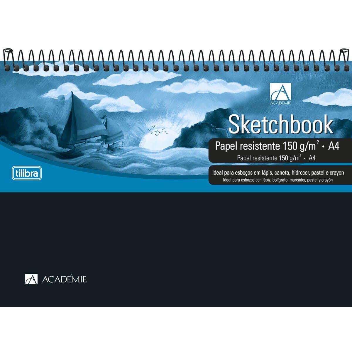 Caderno Sketchbook A4 150g/m²