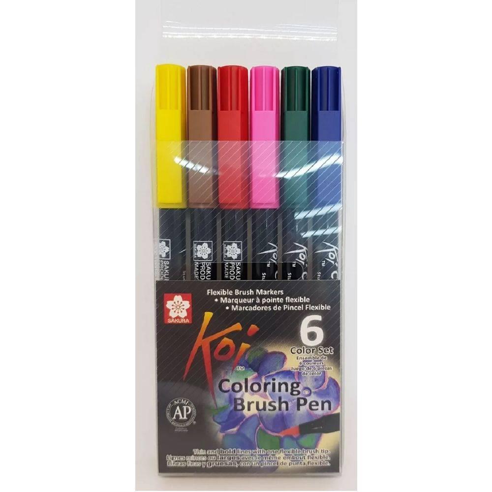 Brush Pen Koi 6 cores