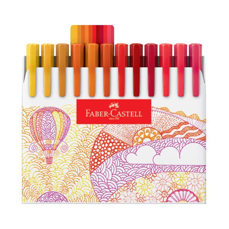 Caneta Fine Pen 48 cores Faber Castell