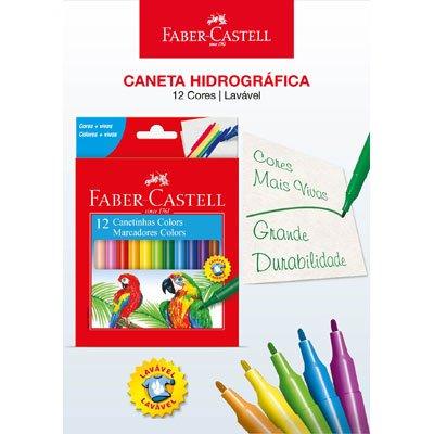 CANETA HIDROGRÁFICA PRESTOCOLOR 12 CORES FABER-CASTEL