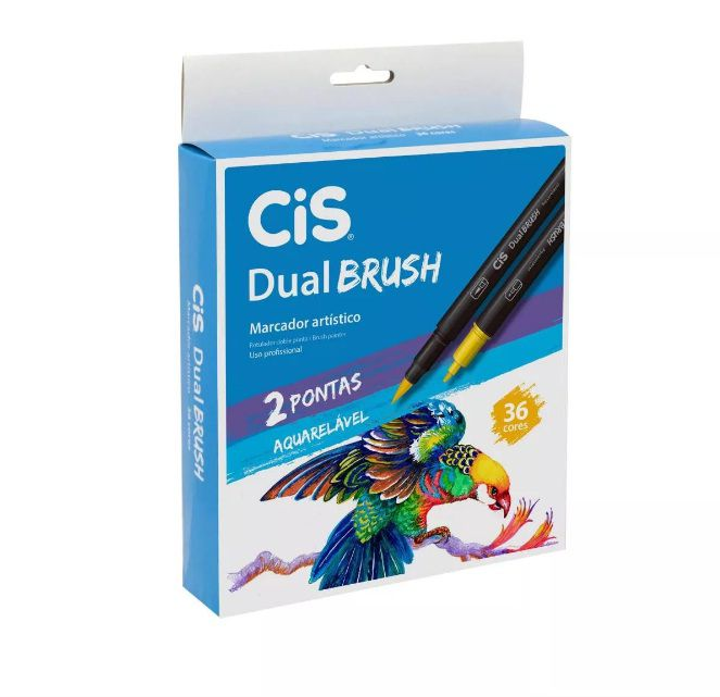 Dual Brush Pen Aquarelável CIS 36 cores