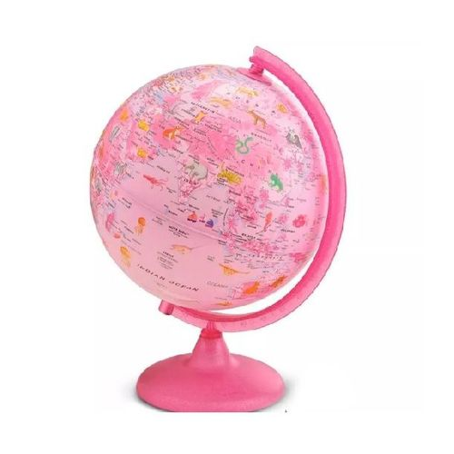 Globo Terrestre Luminoso Pink Zoo